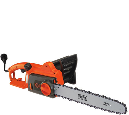 "Black & Decker 12-amp 16"" Corded Chainsaw"