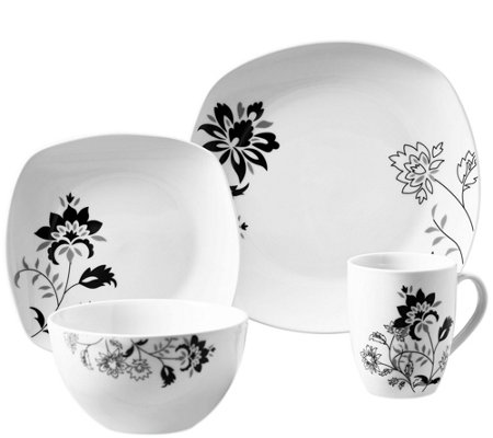 Tabletops Gallery 16-Piece Dinnerware Set - Rebecca