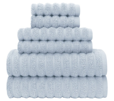 Briarwood Home Zero Twist High Low Rib 6-PieceBath Towel Set