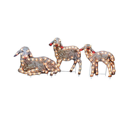 "Set of 3 18"" Sheep Outdoor Yard Art"