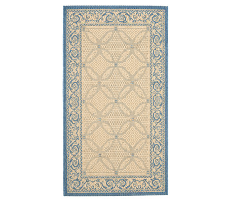 "Safavieh Courtyard Lattice Flower 2'7"" x 5' Rug"