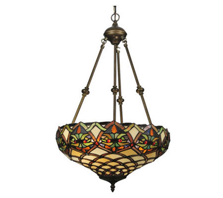 "Tiffany Style 16"" Franco Inverted Pendant Lamp"