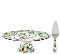 Temp-tations Figural Floral Cake Stand and Server - H205014
