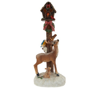 Kringle Express Illuminated Holiday Icon Lamp Post Winter Scene - H209514