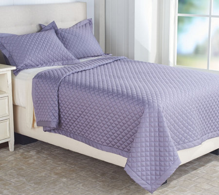 Northern Nights 400TC Super Soft Cotton Diamond Stitch Queen Coverlet