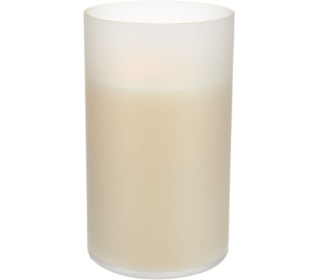 """As Is"" Luminara Flameless Candle in 6"" Glass Hurricane"