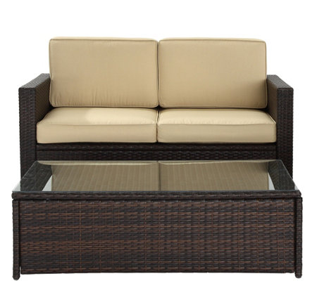 Palm Harbor 2-Piece Outdoor Wicker Seating Set