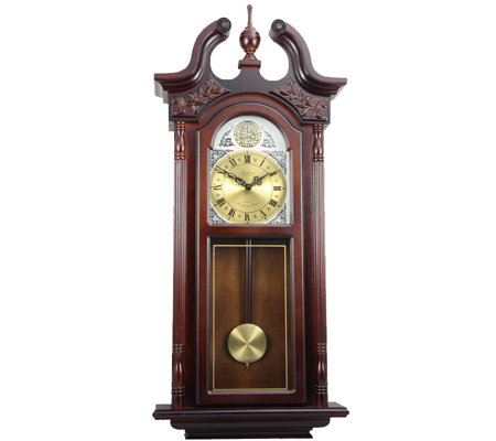 "Bedford Clock 38"" Grand Antique Style Chiming Wall Clock"