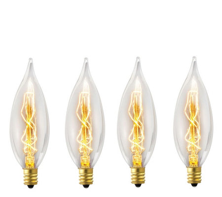 Globe Electric 4-Pack 25W Vintage Edison B10 Decorative Bulbs