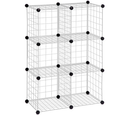 Honey-Can-Do 6-Pack Steel Wire Modular StorageCubes