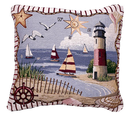 """Coastal Memories"" Pillow"