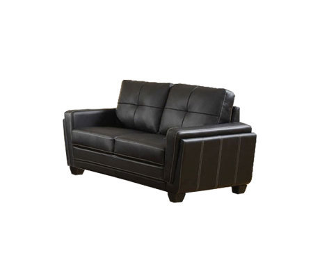Blacksburg Bonded Leather Love Seat