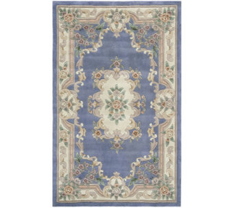 Rugs America New Aubusson 2' x 4' Wool Accent Rug - H140015