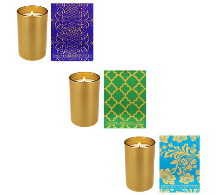 Home Reflections S/3 5.25oz Candles w/ Gift Boxes by Archipelago