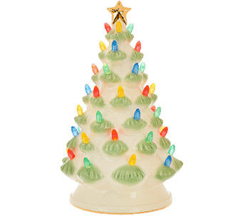"Lenox Treasured Tradition 12"" Lit Tree w/ 24K Gold Accents - H205415"