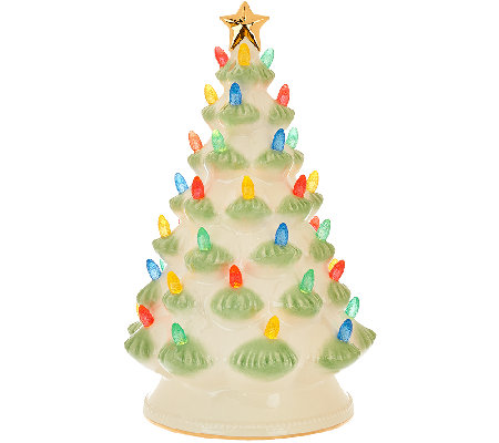 "Lenox Treasured Tradition 12"" Lit Tree w/ 24K Gold Accents"