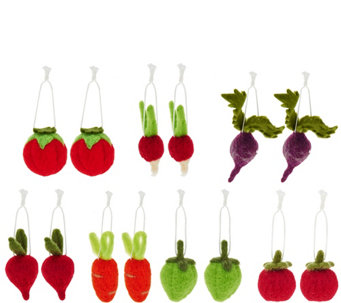 ED On Air Set of 14 Felt Ornaments by Ellen DeGeneres - H207015