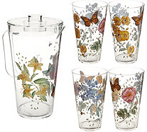 Lenox Butterfly Meadow 5pc Acrylic Drinkware & Pitcher Set - H210715