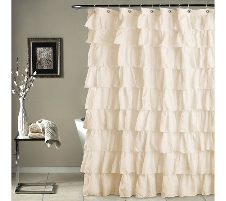 Ruffle Shower Curtain by Lush Decor