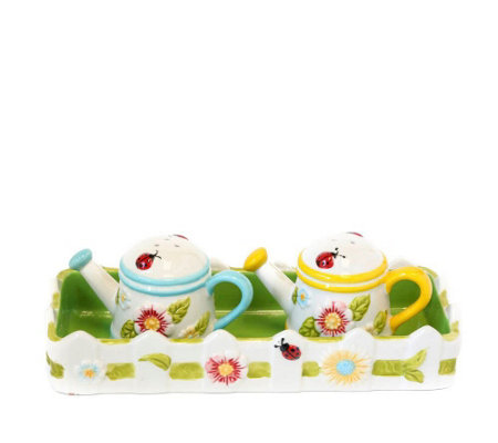 Temp-tations Gingham Garden Salt and Pepper Set