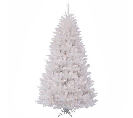 8.5' Sparkle White Spruce Tree with Clear Lights by Vickerman