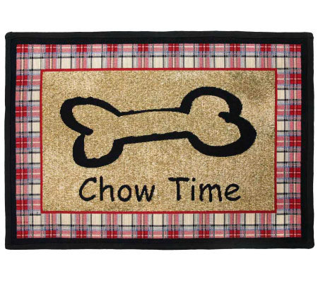 Chow Time 19x27 Tapestry Rug