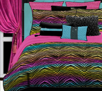 Veratex Rainbow Zebra Full Comforter Set - H351615