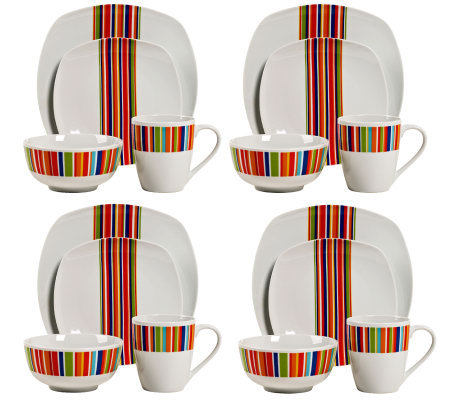 Tabletops Gallery 16-Piece Westwood DinnerwareSet