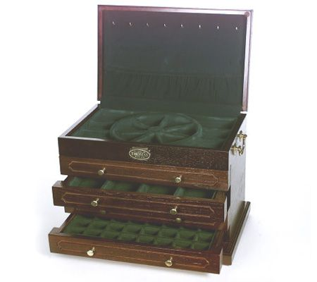 Thomas Pacconi Deluxe Cherry 4Drawer Jewelry Box QVCcom