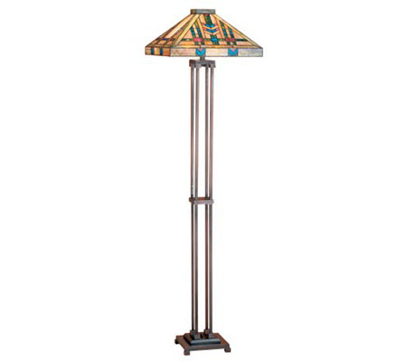 Tiffany Style Prairie Wheat Mission Floor Lamp
