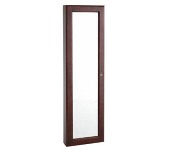 Wall-Mount Jewelry Mirror - Cherry - H181016
