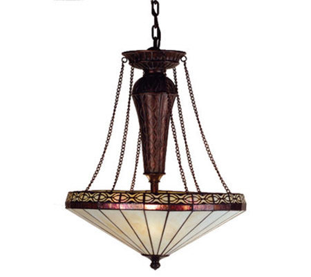 "Tiffany Style 22""W Crestwood Inverted Pendant Light"
