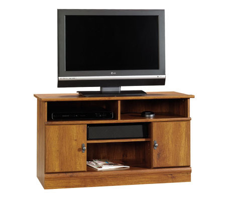Sauder Harvest Mill Panel TV Stand - Abbey OakFinish