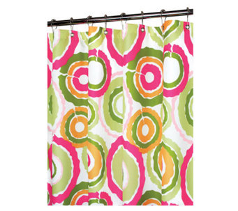 Watershed 2-in-1 Groovy Circles 72x72 Shower Curtain - H184816
