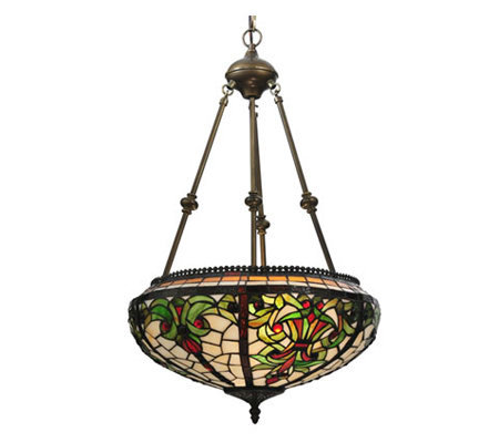 "Tiffany Style 16"" Barroco Inverted Pendant Lamp"