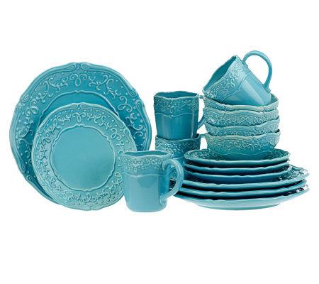Temp-tations Vintage Grace 16-piece Stoneware Dinnerware Set