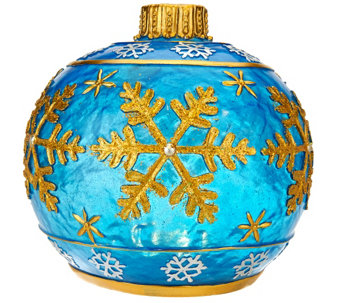 Kringle Express Outdoor Glazed Resin Ornament Luminary - H206316