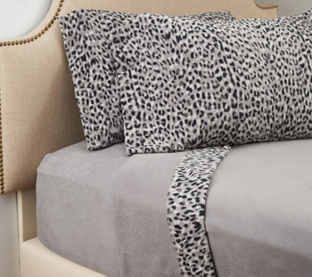 Malden Mills Polar Fleece Printed Hem Full Sheet Set