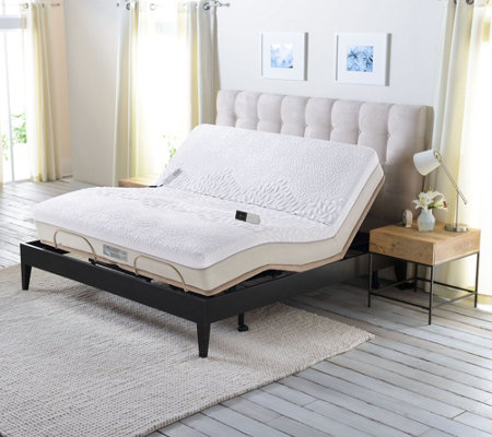 Sleep Number Memory Foam Queen Mattress with Adjustable Base