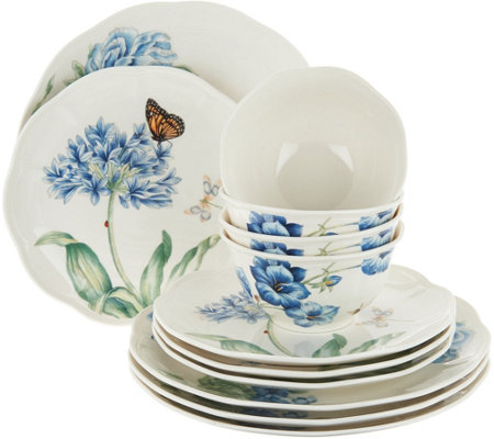 Lenox Butterfly Meadow 12pc Porcelain Dinnerware Set  sc 1 st  QVC.com & Lenox Butterfly Meadow 12pc Porcelain Dinnerware Set - Page 1 \u2014 QVC.com