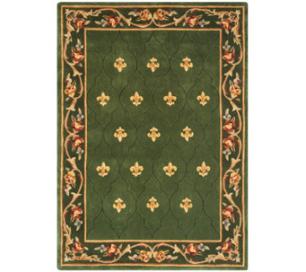 """As Is"" Royal Palace Special Edition 5'x 7' Fleur de Lis Wool Rug - H211016"