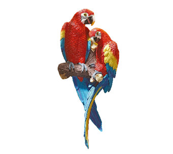Design Toscano Tropical Scarlet Macaws Wall Sculpture - H284416