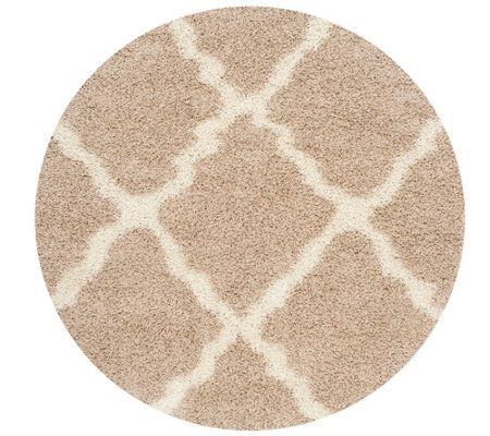 Dallas Shag 6'Diam Round Rug by Safavieh