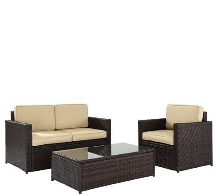 Palm Harbor 3-Piece Outdoor Wicker Seating Set