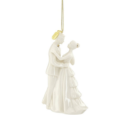 Lenox 2017 Bride and Groom Ornament