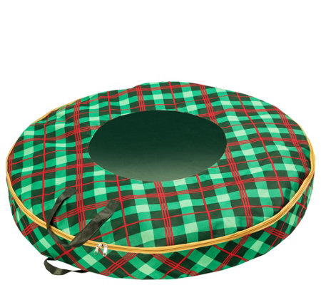 "Honey-Can-Do Plaid 36"" Wreath Storage Bag"