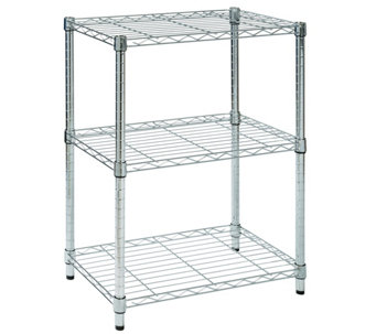 Honey-Can-Do 3-Tier Chrome Steel  Adjustable Shelving Unit - H356416