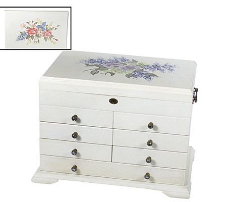 Thomas Pacconi Handpainted Jewelry Box with Dividers QVCcom