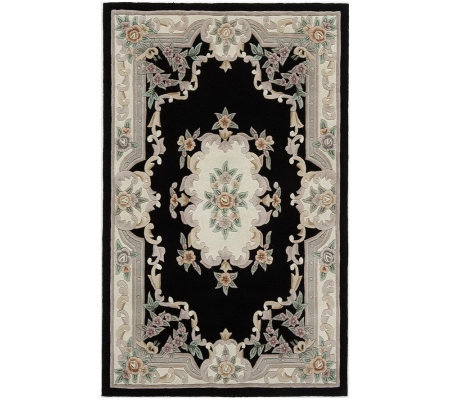 Rugs America New Aubusson 4' x 6' Wool Rug