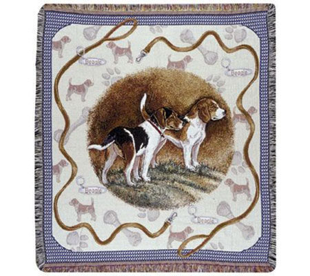 Beagle Tapestry Throw by Simply Home